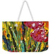 Spring Tulips Triptych Panel 2 Weekender Tote Bag