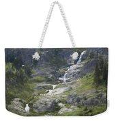 Spring Waterfall In The Tetons Weekender Tote Bag