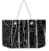 Spring Woods Simulated Woodcut Weekender Tote Bag