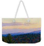 Springfield New Hampshire Mountain Veiw Fall Colors Weekender Tote Bag
