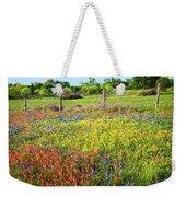 Spring's Floral Quilt Weekender Tote Bag