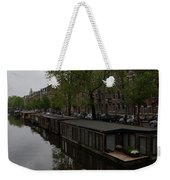 Springtime Amsterdam - Boathouses And Miniature Gardens Weekender Tote Bag