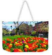 Springtime At Abingdon Square Park Weekender Tote Bag