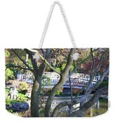 Springtime Bridge Through Japanese Maple Tree Weekender Tote Bag by Carol Groenen
