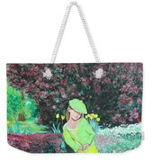 Springtime On Iris Weekender Tote Bag by Tom Roderick