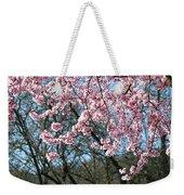 Springtime Seasonal Pink Blossom Flowers Baslee Weekender Tote Bag