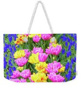 Springtime Tulips 01 Painterly Effecy Weekender Tote Bag