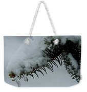 Spruce Needles And Ice Weekender Tote Bag