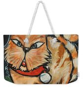 Square Cat Two Weekender Tote Bag