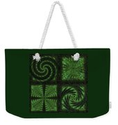 Square Crop Circles Quad Weekender Tote Bag