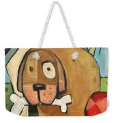 Square Dog Weekender Tote Bag