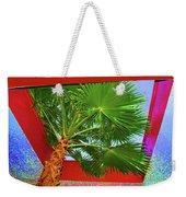 Square Palm Weekender Tote Bag