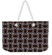 Square Rose Woven Pattern Weekender Tote Bag