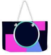 Squares And Triangle Subsumed By Circle Weekender Tote Bag