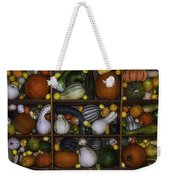 Squash And Gourds In Compartments Weekender Tote Bag