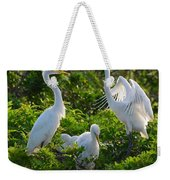Squawk Of The Great Egret Weekender Tote Bag