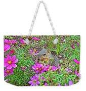 Squirrel Among Coreopsis In Huntington Gardens In San Marino-california   Weekender Tote Bag