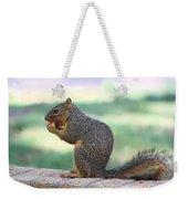 Squirrel Eating Crab Apple Weekender Tote Bag