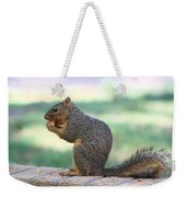 Squirrel Eating Crab Apple Weekender Tote Bag