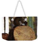 Squirrel Eating Pinecones Weekender Tote Bag