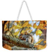 Squirrel In Autumn Weekender Tote Bag