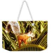 Squirrel In Palm Tree Weekender Tote Bag