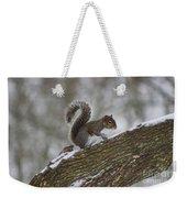 Squirrel In The Snow Weekender Tote Bag