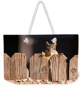 Squirrel On The Fence Weekender Tote Bag
