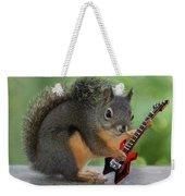 Squirrel Playing Electric Guitar Weekender Tote Bag