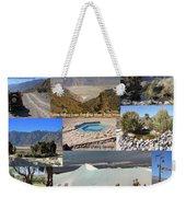 Saline Valley Collage Weekender Tote Bag