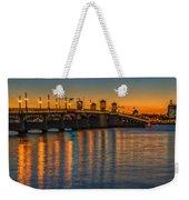 St Augustine Bridge Of Lions Sunset Dsc00433_16 Weekender Tote Bag