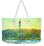 St Augustine Lighthouse Waterscaped Weekender Tote Bag