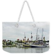 St Augustine Marina From The Water Weekender Tote Bag