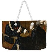 St Benedict Blesses The Bread Weekender Tote Bag