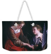St. Cecilia And An Angel Weekender Tote Bag by Granger
