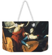 St. Cecilia And The Angel Weekender Tote Bag