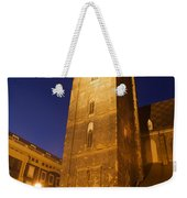 St. Elizabeth's Church Tower At Night In Wroclaw Weekender Tote Bag
