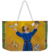 St. Francis And Birds Weekender Tote Bag