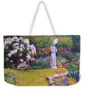 St. Francis In The Garden Weekender Tote Bag