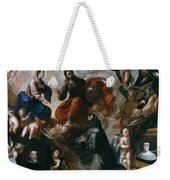 St Francis Of Assisi In The Portiuncula With  Donors Antonio Contreras And Maria Amezqueta Weekender Tote Bag