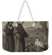 St Francis Preaches To The Birds  Weekender Tote Bag