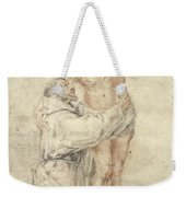 St Francis Rejecting The World And Embracing Christ Weekender Tote Bag by Bartolome Esteban Murillo