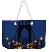 St Johns Bridge Shine Weekender Tote Bag