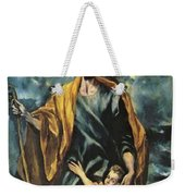St Joseph And The Christ Child 1599 Weekender Tote Bag