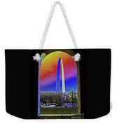 St Louis Arch Rainbow Aura  Weekender Tote Bag
