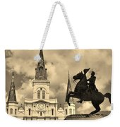 St. Louis Cathedral And Statue Weekender Tote Bag