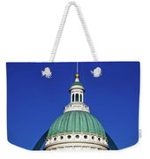 St Louis City Hall With Arch In Background Weekender Tote Bag