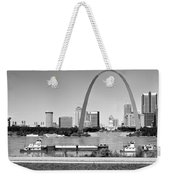St Louis City Scape In Black And White Weekender Tote Bag