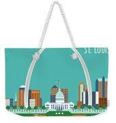 St. Louis Missouri Horizontal Skyline Weekender Tote Bag