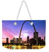 St Louis Skyline As Night Falls Weekender Tote Bag